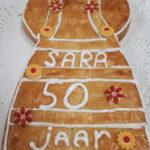 Sara 50 van boterkoek - Bakkerij Bosgoed