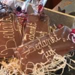 Chocoladeplak met tekst - Bakkerij Bosgoed