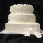 Witte taart bruiloft - Bakkerij Bosgoed